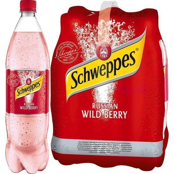 Schweppes Russian Wild Berry 1,25l (Pack de 6)