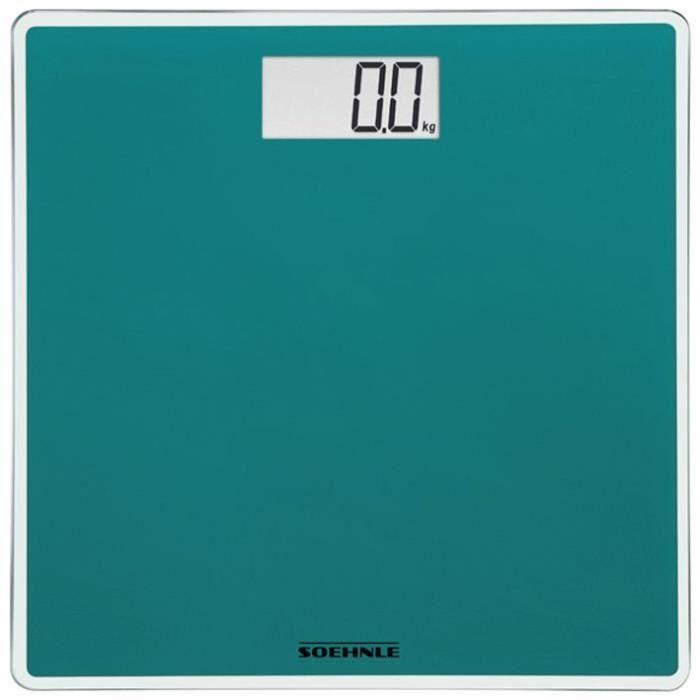 SOEHNLE Pèse-personne Electronique Compact 200 - 180 kg/100g - Bleu