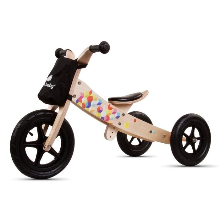 Draisienne tricycle en bois Bic Black Edition Twist 2 en 1 à partir de 2 ans 90