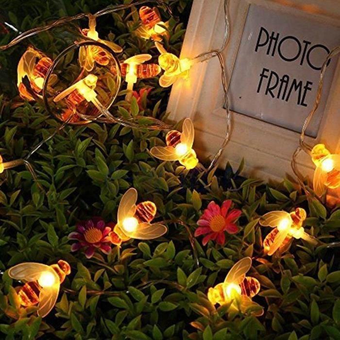 TEMPSA extérieur Solaire guirlande lumineuse 30 LED Abeille Etanche Jardin Party Noël fête Decor