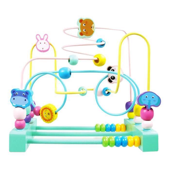 Circuit De Motricite En Bios Jeu De Labyrinthe A Perles Puzzle Pour Enfant Garcon Fille 3 Ans Et Plus 22 5 X 15 X 22 Cm Achat Vente Jeu D Apprentissage Cdiscount