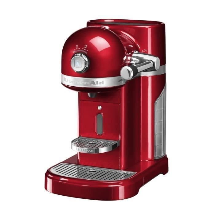 kitchenaid cafeti re nespresso automatique 19bars pomme d 39 amour 5kes0503eca achat vente. Black Bedroom Furniture Sets. Home Design Ideas
