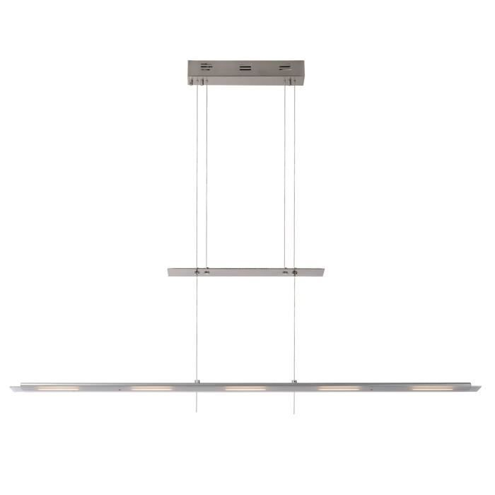 suspension barre led en m tal chrom et verre longueur 115cm achat vente suspension barre. Black Bedroom Furniture Sets. Home Design Ideas