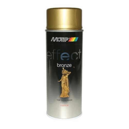 bombe de peinture motip pro effet bronze or spray 400ml 303001 attention utilisation. Black Bedroom Furniture Sets. Home Design Ideas