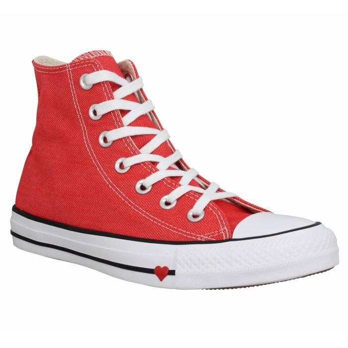 Baskets CONVERSE Chuck Taylor All Star Hi toile Femme-39-Red ...