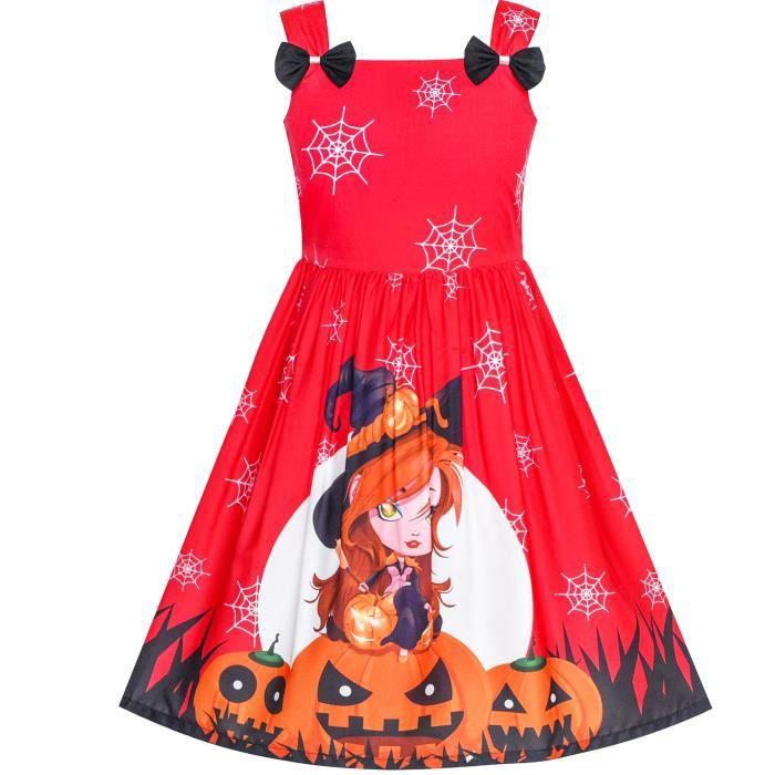 Sunny Fashion Robe Fille Halloween Citrouille Sorciere Nœud Papillon Partie Costume 2 8 Ans Halloween Rouge Achat Vente Robe Bientot Le Black Friday Cdiscount