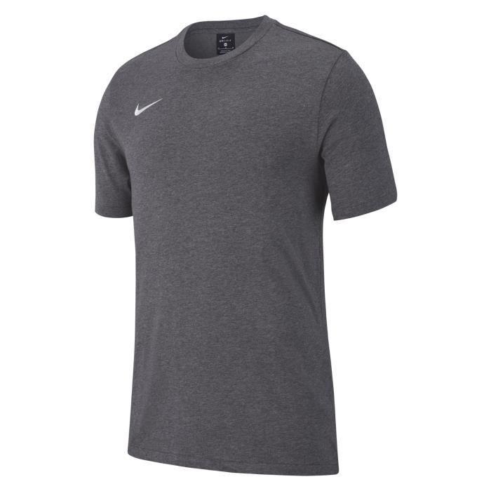 T-SHIRT MAILLOT DE SPORT T-Shirt Nike Team Club 19 Enfant Unisexe Gris/blan
