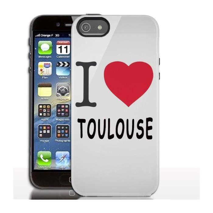 Coque iPhone 5s Love Toulouse - Cdiscount Téléphonie
