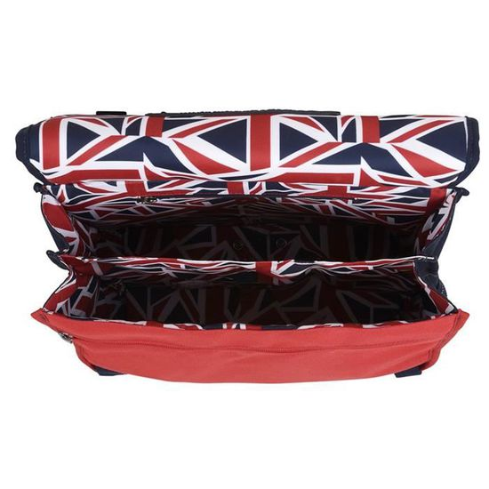 8f1b5f8943 Sac a dos L Rouge IKKS Union Jack Russel Bagages Cartables