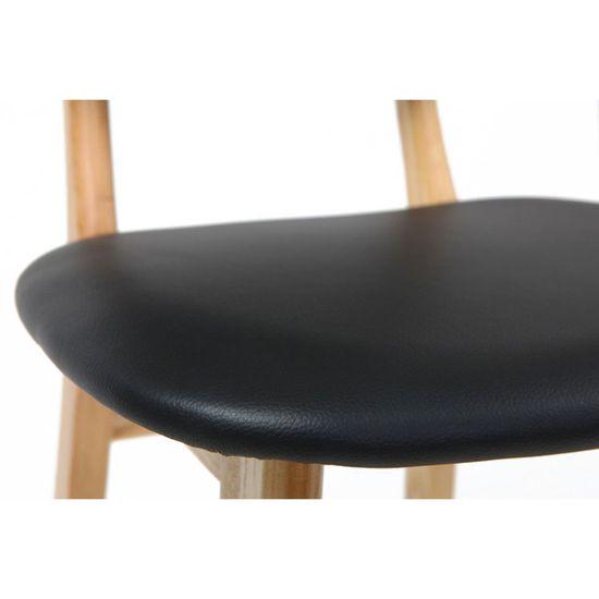 et Miliboo de naturel NORDECO noir Chaise design bois bar 65 cm 9WDI2HYE