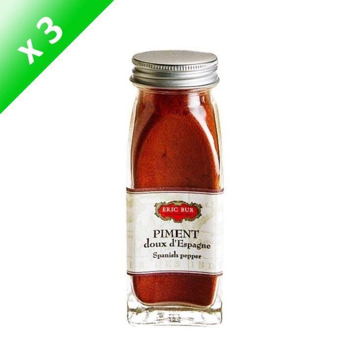 [LOT DE 3] ERIC BUR Epices Piment Doux D'espagne - 48g