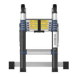 WORHAN/® Echelle 3.8m T/élescopique PRO Aluminium Anodis/é Solide Extensible 380cm .3.8m A-line 1K3.8A