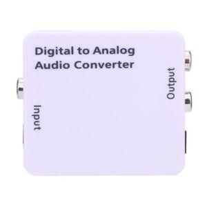 CÂBLE TV - VIDÉO - SON Adaptateur de Convertisseur Audio Analogique - RCA