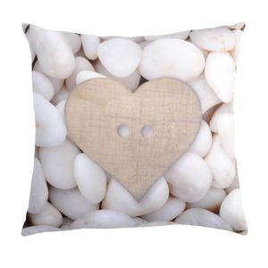COUSSIN Coussin carre galets blancs 40 x 40 cm