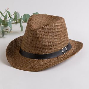 CHAPEAU - BOB Chapeau Cowboy Paille Homme Femme Chapeau Fedora P