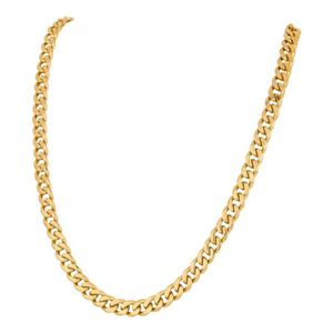 CHAINE DE COU SEULE Chaine collier pour homme plaqué or maillons cubai