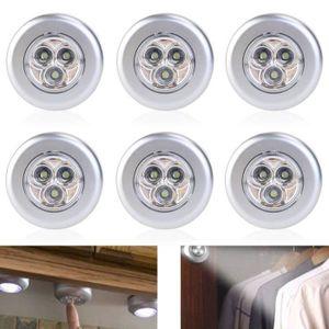 LAMPE A POSER Lot de 6 Spot Lampe LED Éclairage de Nuit Autocoll