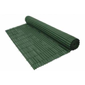 CLÔTURE - GRILLAGE Canisse PVC vert 900 g/m² Vert 1,5 x 5 mètres
