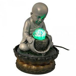 FONTAINE INTÉRIEURE FONTAINE A EAU - BONZE MEDITANT  Ambiance Zen et D