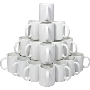 BOL 72 Tasses Blanches 11oz avec Boites Cadeaux