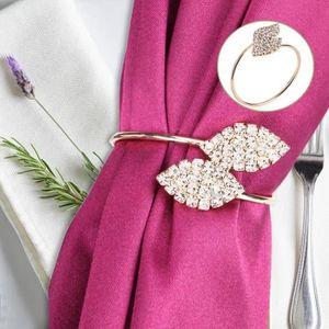Set de 4 Anneaux de Serviette Porte-Serviettes de Table pour Le d/îner de Banquet de Mariage d/écoration de Table d/écoration de Table