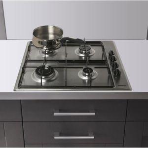 PLAQUE GAZ Table de cuisson encastrable HIZG64120SX inox 4 fo