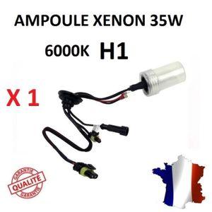 AMPOULE TABLEAU BORD  1 ampoule xenon H1 6000K 35W de rechange