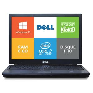 ORDINATEUR PORTABLE Ordinateur portable dell latitude E4300 core 2 duo