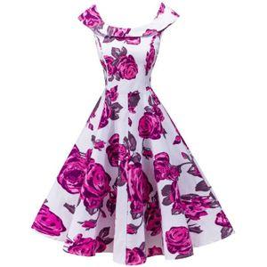 ROBE 1950 Femmes Une ligne Vintage Robes Audrey Hepburn