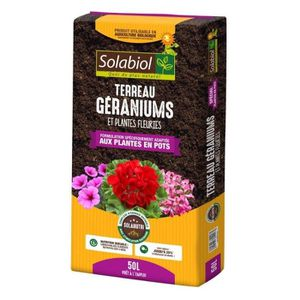 TERREAU - SABLE SOLABIOL - Terreau Géraniums et Plantes Fleuries -