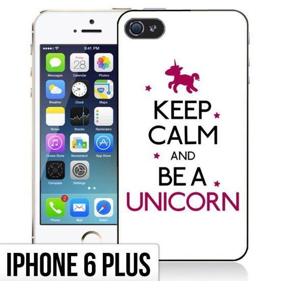 coque iphone 6 plus 6s plus keep calm unicorn