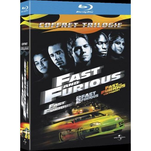 blu ray coffret fast and furious la trilogie en blu ray film pas cher cohen rob singleton. Black Bedroom Furniture Sets. Home Design Ideas