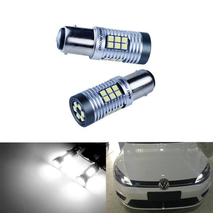 2x Ampoule 30 SMD LED 380 P21/5W 1157 BAY15d blanc Feu de position Stop Feux de Jour Lumière