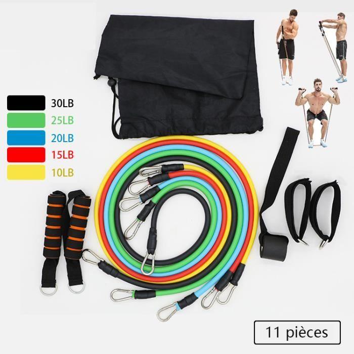 Bandes de Resistance Elastiques Musculation Set Fitness Exercice, Costume de bande de Tension de formation Musculaire de Fitness Hom