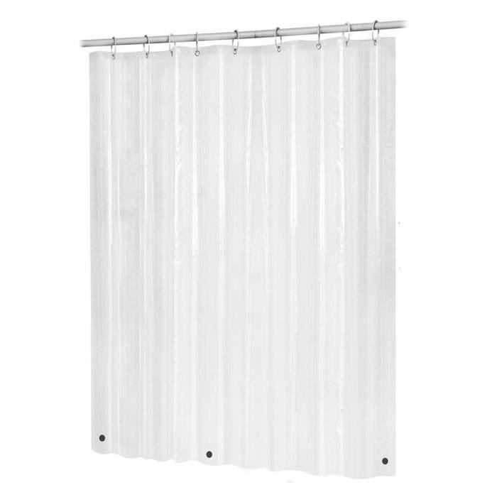 Doublure de rideau de douche de bain salle de bains imperméable non toxique et résistante aux moisissures GT971