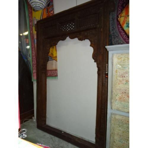 Grande arche indienne antique avec patine teck 170x265 cm