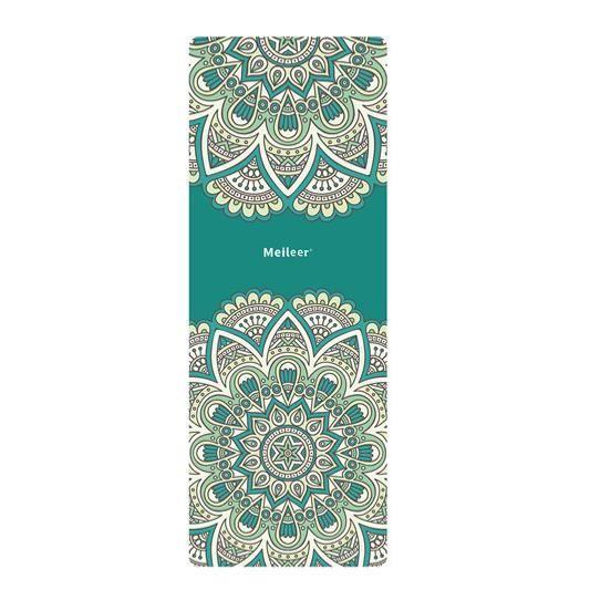 le tapis de yoga de mandala - voyage léger sèche vite antidérapant pliables luxueux tapis de yoga / serviette - 1 mm d'épaisseur