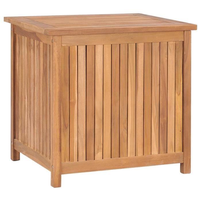 OH LA Malle de rangement - Fantastique -Boîte de rangement-Banc Coffre D'extérieur Armoire Jardin Intérieur 60x50x58 cm Bois de teck