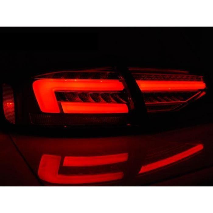 Paire de feux arriere Audi A4 B8 12-15 berline FULL LED Rouge Fume