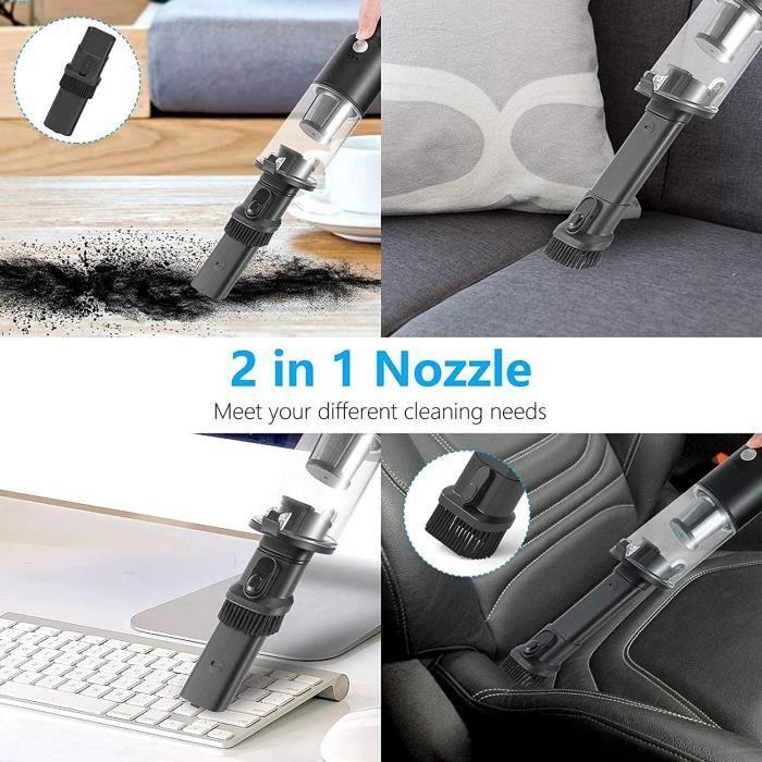 Aspirateur de Voiture à Main, Faible Bruit, avec lumière LED, Mini aspirateur USB pour Voiture, Animal de Compagnie, PC, Ordina 718