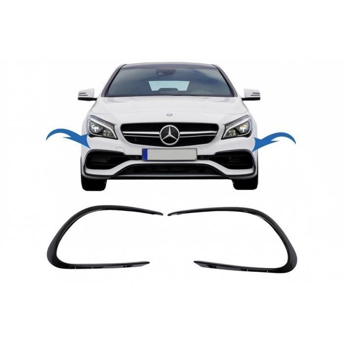 Ailerons latéraux pare-chocs pour Mercedes CLA W117 13-18 CLA45 A-Design Noir