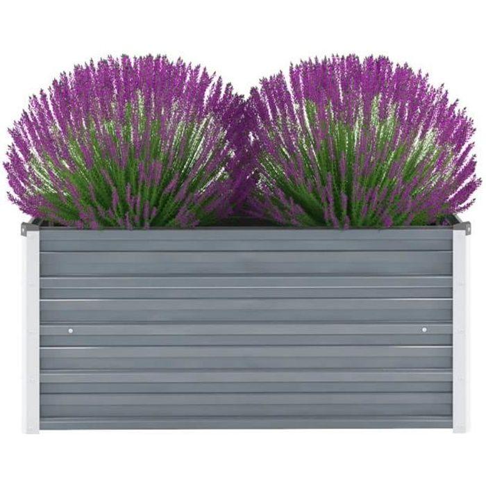 CHEZDECO🐳 Magnifique-Moderne - Jardinière Extérieur Balcon Lit surélevé de jardin - Décoration Jardin Pot à Fleurs Plante BAC4281