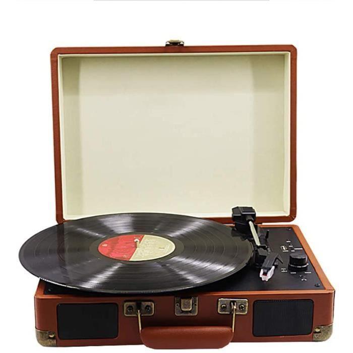 Stands Tourne-Disque Platine Vinyle, Tourne-Disque Bluetooth, Tourne-Disque Vinyle 3 Vitesses avec Haut-parleurs st&eacuter&eac138