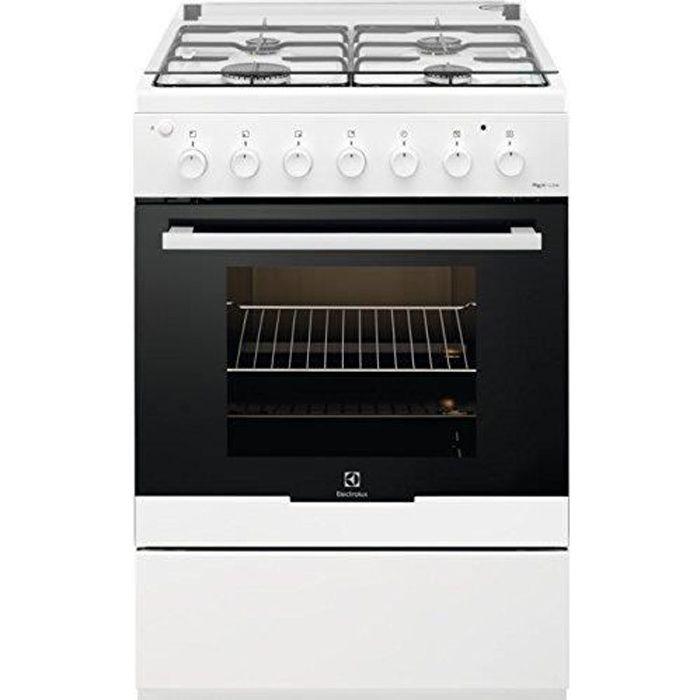 Electrolux RKK 61181 OW Cuisinière Blanc Gaz A - Fours et cuisinières (Cuisinière, Blanc, Boutons, Rotatif, Blanc, Devant, Bas)
