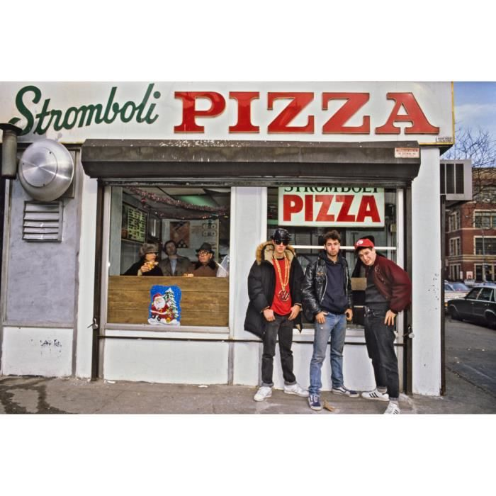 Poster Affiche Beastie Boys In NYC Hip Hop 90's Pizza Vintage 31cm x 46cm