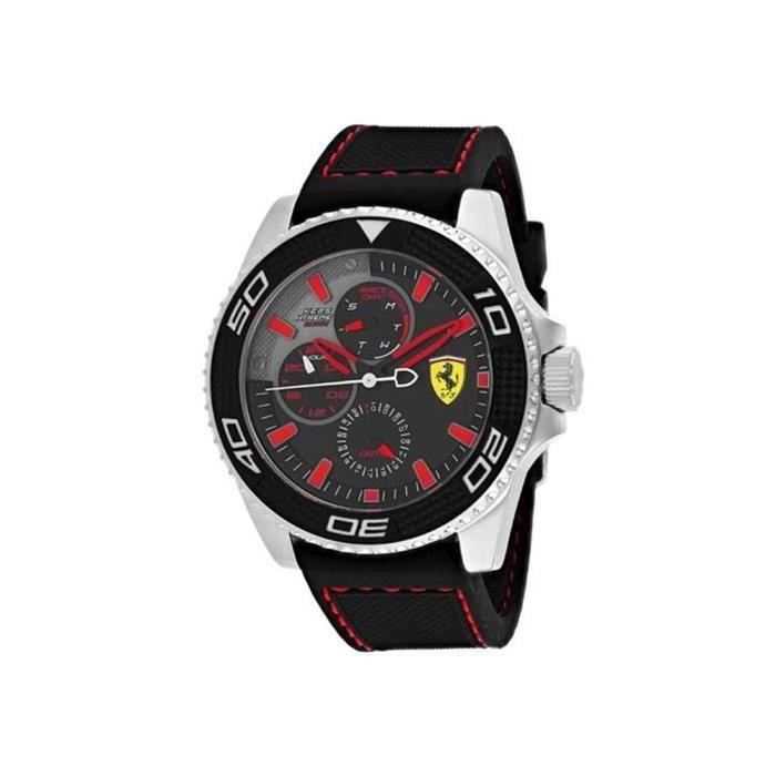 Ferrari Kers Xtreme Homme 48mm Bracelet Silicone Noir Quartz Montre 830467