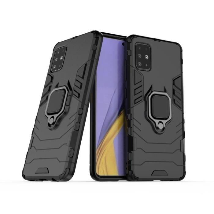 Coque Samsung Galaxy A71 Anti Choc Noir Antichoc Armor Avec Support Magnétique hfs-house®
