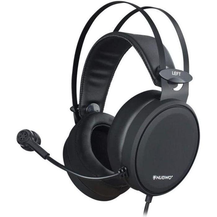 Casque Ps4,N7 Xbox one Casque Gaming Stéréo Filaire Pc avec Micro à Réduction du Bruit, Casque Over Ear pour Pc, Mac, Playstation 4