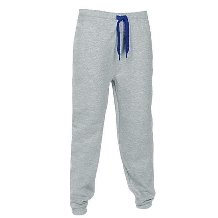 Hommes Gym Casual poches jogging sport solides Harem taille élastique Pantalons Pantalons vert
