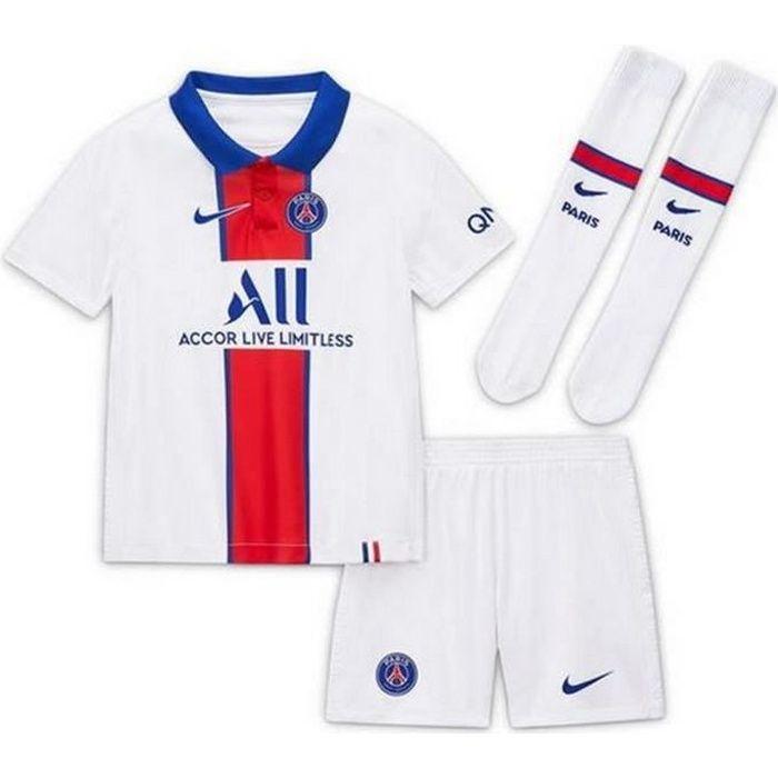 Mini-Kit Officiel Enfant Nike PSG Paris Saint-Germain Extérieur Saison 2020-2021